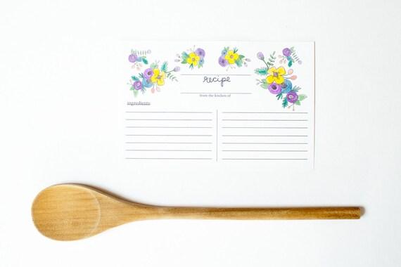 Recipe Cards Pack of 10 or 25 - Wedding Gift - Wedding Shower Favor ...
