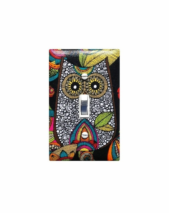 Owl Light Switch Plate Cover Kitchen Bathroom Decor Teen Tween