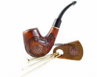 """Fashion Gift Set """"NORDIC"""" Wood pipe and Tamper Tools, Tobacco Pipe/Pipes Smoking Pipes. Handcrafted wooden pipe, Best Price in FPS"""