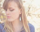 Bright Fuchsia and Mint Earrings