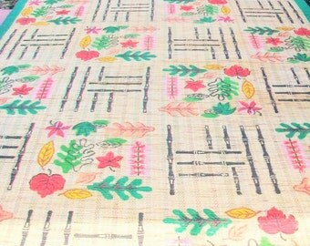 Vintage Asian Rice Straw Rug Mat Huge 6' x 12' 1950s