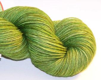 Merino,Yak, Silk Hand dyed fingering weight yarn 400 yrds 3-ply