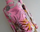 SURREAL SEA . S . Show Stopping Colors Underworld Underwater Print . Superb Jersey Maxi Dress Bright Colorful 1970s 70s