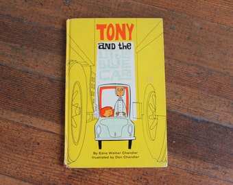Vintage Children's Book - Tony and the Little Blue Car by Edna Chandler  - First Edition (1962)