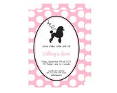 Pink Poodle Party Invitation : By Bloom Designs