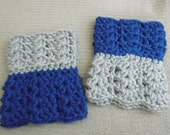 Dallas Cowboys Dual Colored, Two-in-One Chunky Boot Cuffs, Boot Toppers - Large