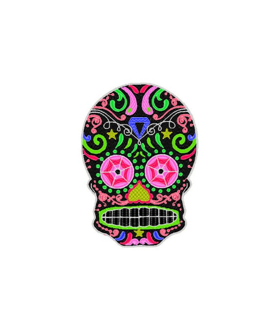 Items similar to Sugar Skull Patch -Iron On - Day of the ...