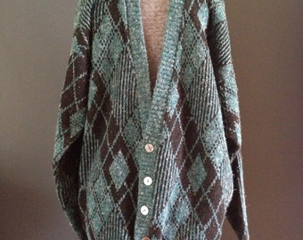Mens cardigan sweater grunge