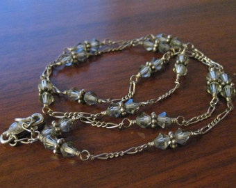 Vintage crystal beaded choker. Woman's accessory.