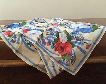 ECHO Silk SOIE Scarf, Designer Women's Fashion Accessories, Made In JAPAN. Floral Buttercream Silk Shawl Wrap