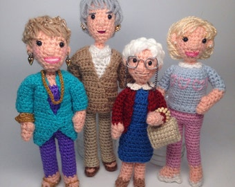 Golden Girls Crochet Amigurumi doll Pattern Set