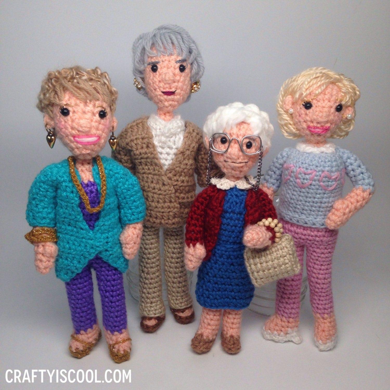 Amigurumi Hello Kitty Crochet Pattern : Golden Girls Crochet Amigurumi doll Pattern Set