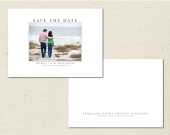 Save the Date Photography Template - 0008 - Photoshop Template