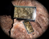 Buckeye Burl Business Card Case Money Clip Set - Card Case - Gift for the Groom - Gift for Dad - Birthday Gift -FREE Engraving