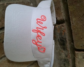 Embroidered Heart Wifey Statement Embroidered Visor