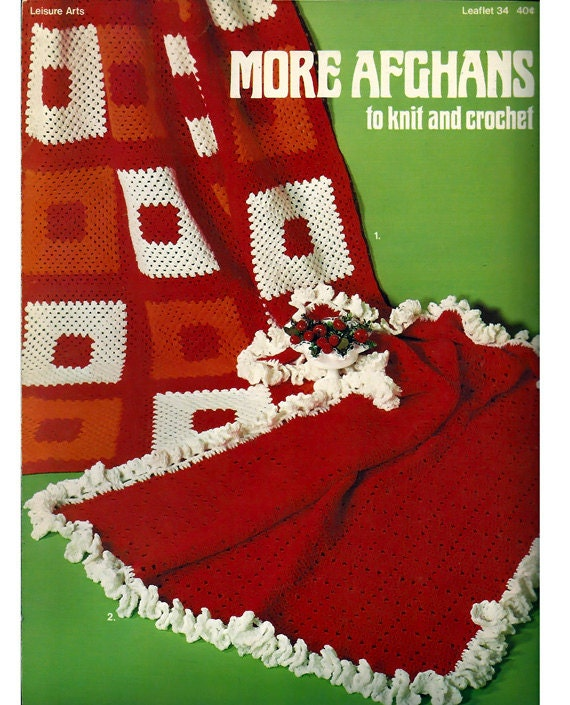 Leisure Arts Knitting Pattern Books : More Afghans to Knit and Crochet Pattern Book Leisure arts