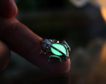 Small FROG GLOW in the DARK Locket