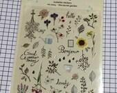 Garden theme Sticker  - 1 sheet - Suatelier stickers seal, Secret garden sticker, Cute Scrapbook Supplies Korea sticker