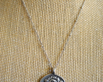 STERLING silver ROMAN COIN necklace