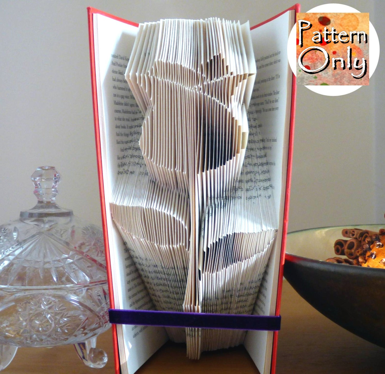 Rose folded book art pattern zoom pronofoot35fo Choice Image