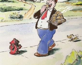 "Wimpy Cartoon - Wimpy The Mooch 8"" x 10"" print"