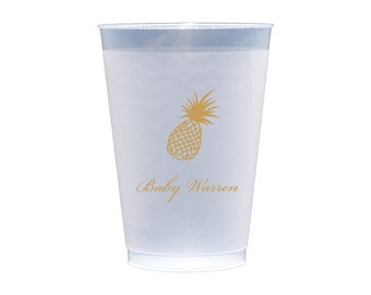 Personalized Pineapple Plastic Cups - Set of 50 (1011)