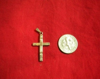 Vintage Cross Sterling Silver Charm