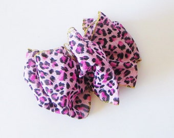 Large Cheetah Bow, PINK Cheetah Hair Accessories, Hair Bows, Super Cute Accessories