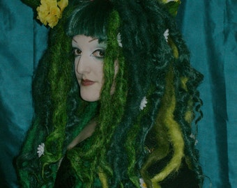 Spring - Dread wig with flower wreath