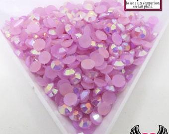 4mm 200 pcs AB Purple Orchid Jelly RHINESTONES Flatback Great Quality / Decoden Crystal Phone Deco
