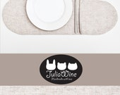 White Cloud Placemat, Linen Placemat, kitchen decor