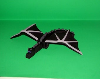 Ender Dragon Cake Topper inspired by Minecraft for a perfect Minecraft themed birthday party