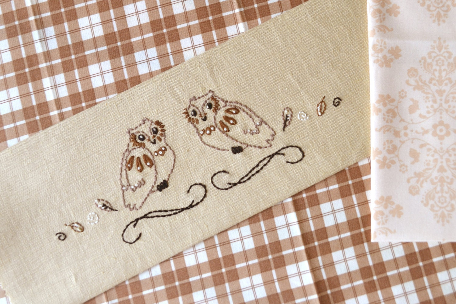 Owl hand embroidery pattern pdf for beginner by naiveneedle