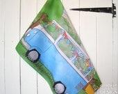 Campervan Illustration Tea Towel