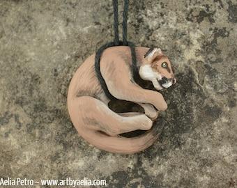 Resin Cougar (Mountain Lion) Necklace