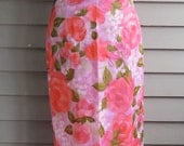 Vintage 1960s | Pink floral Asian Maxi Dress | Penthouse Gallery | Size Medium - Large