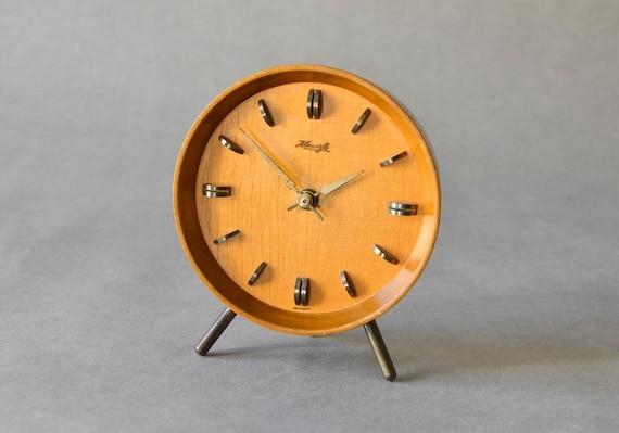 Vintage German wooden Kienzle desk clock table clock