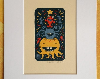 Electric Octo Party screen print