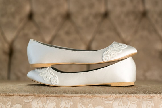 Ivory Flats with Ivory Toe Lace