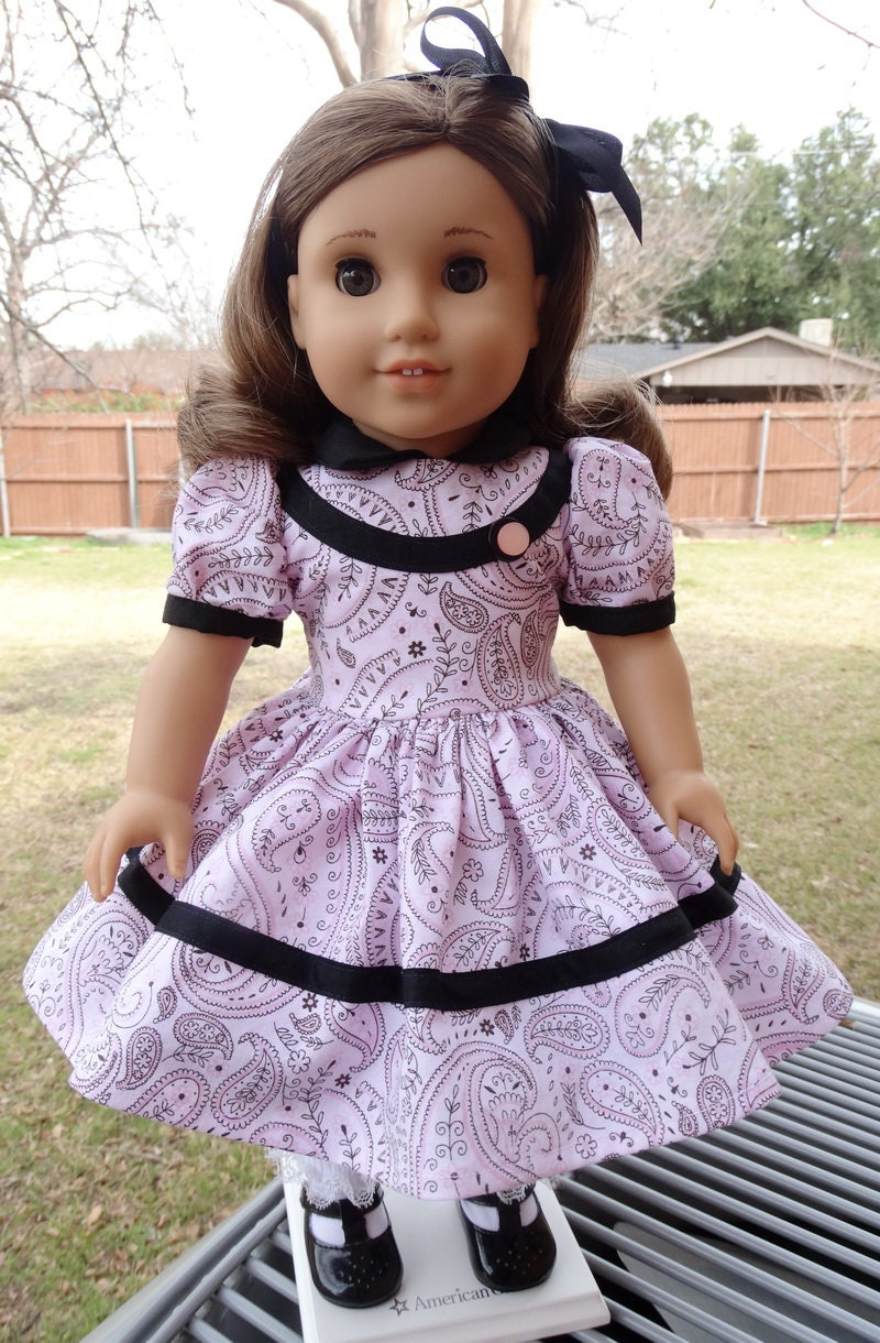 18 Pretty Halloween Makeup Ideas You Ll Love: 18 Doll Clothes Pretty Pink Paisley Party Dress Fits