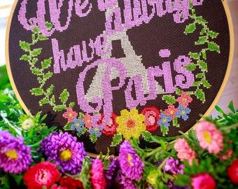 Paris Cross Stitch - Cross Stitch PDF Digital Pattern - Eiffel Tower