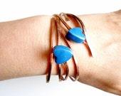 Hammered Oxidised Copper Stacking Bracelets Set