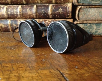Antique Industrial Steampunk Goggles Biker