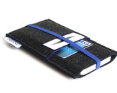 iPhone 6S Sleeve/ iPhone 6s Plus Case/ iPhone 4/4S/5/5S/5C Sleeve/ Samsung/ Nexus/ HTC/ One+One- Elastic- Graffiti Black & Royal Blue