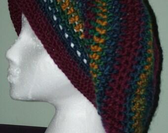 Crocheted Rasta Style Hat
