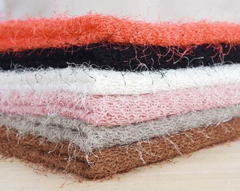 "Polyester Hairy Sweater Knit Fabric - Choose From 6 Colors - 52"" Wide - By the Yard v100-002"