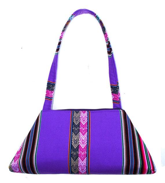 SALE! Vibrant, Peruvian textile, retro style, bright lavendar