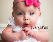 Baby Girl Headbands, Baby Headband, Baby Bow, Newborn Headband, Baby Bows Headband, Pink Baby Bow headband, Baby Girl pink bow Headband, bow