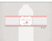 Little Peanut Baby Shower, DIY Elephant Bottle Wrappers, Toast To Our Little Peanut!, Instant Download Printable PDF