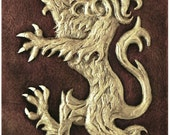 Scottish Lion - Cast Paper - Celtic art - Scottish art - Scottish Gaelic - Scotland - Scottish clan - Emblem of Scotland - Scottish Heraldry